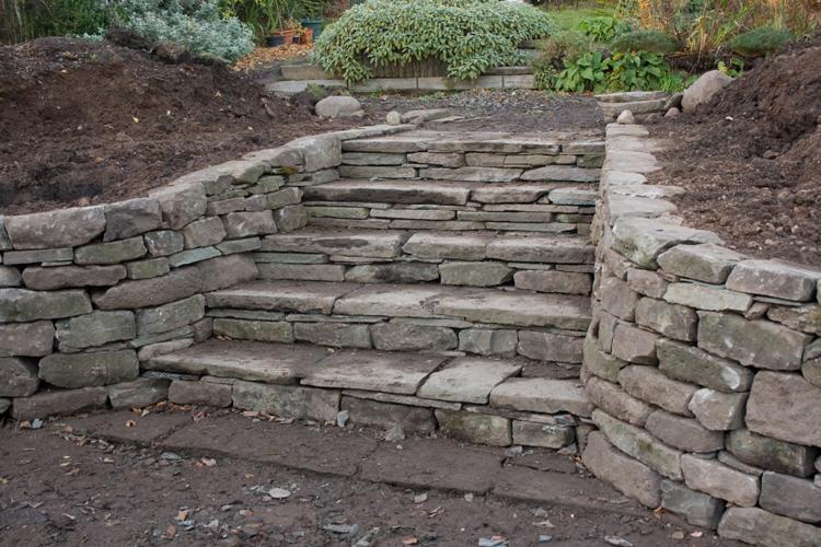 Stone Garden Steps Stone steps garden garden designs stone inspired dry walling garden design and landscaping workwithnaturefo