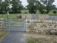 Dry stone walls at Oatridge College