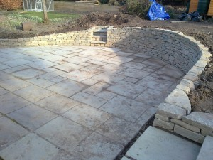 Dry stone retaining wall Rosline