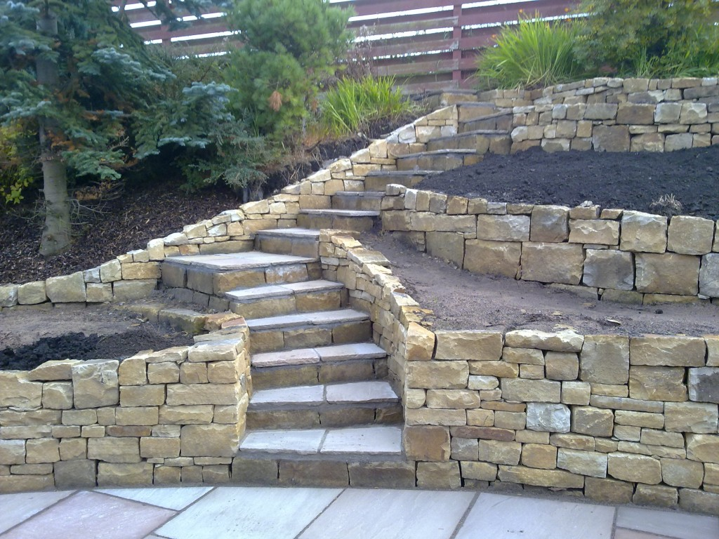 Falkirk Retaining Walls And Steps Stone Inspired