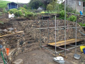Carlops dry stone walling - progress pic 2