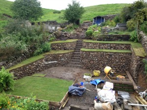 Carlops - retaining walls and steps