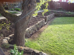 Low retaining wall rebuild