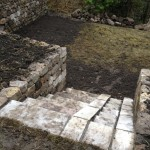 Steps and lawn-mower ramp