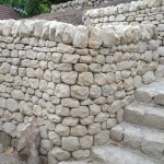 Wall and steps