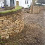 Freestanding Dry stone boundary wall