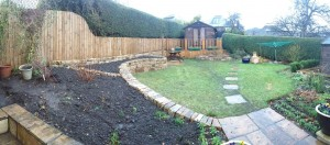 Garden stone walls