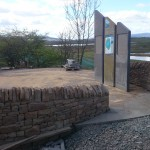 Dry stone walls and info panels