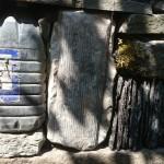 Slate and bottle wall