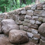 Dry stone and boulder steps