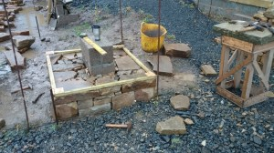 Beginnings of a dry stone wall
