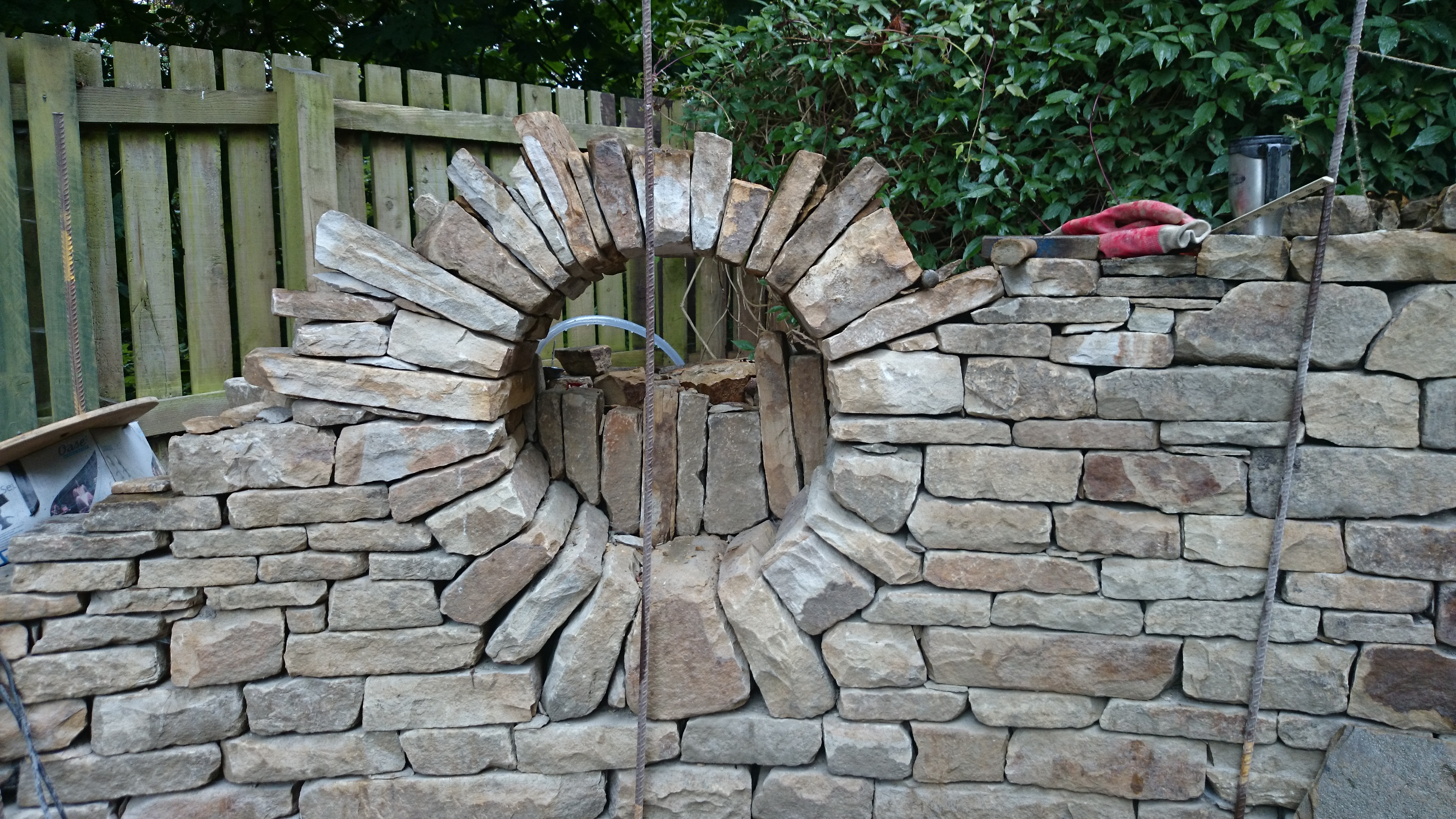A hard year of lessons stone inspired dry stone garden features workwithnaturefo