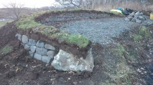 stone and turf wall