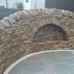 Curved dry stone arch