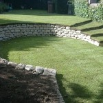 Dry stone walls with turf