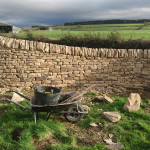 A completed section of dry stone wall