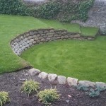 stone and turf garden