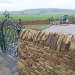 The finished dry stone wall