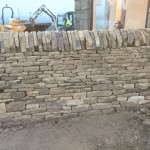 A small dry stone wall