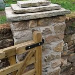 Mortared gate pillar