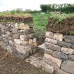 Dry stone wall with entrance