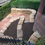 Steps, paving and retaining walls.