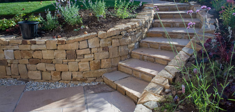 Stone Inspired Dry Walling Garden Design And Landscaping