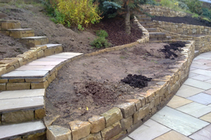 Falkirk dry stone wall landscaping