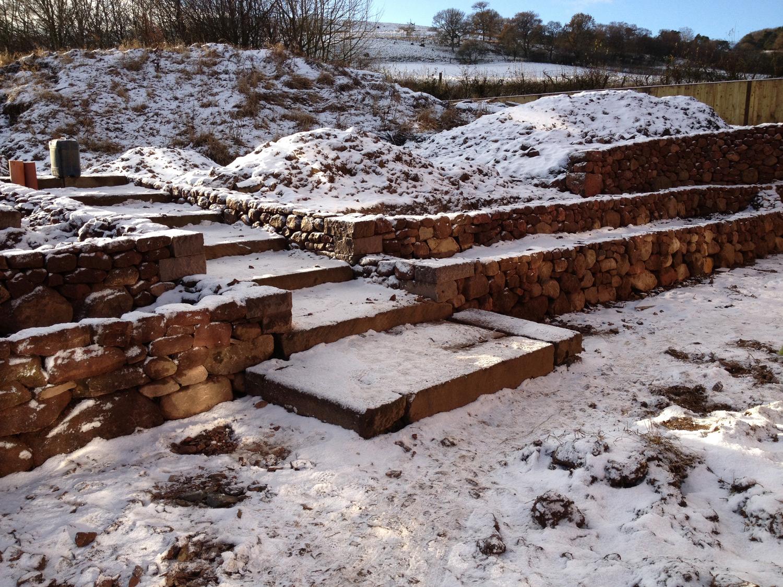 dry stone terraces