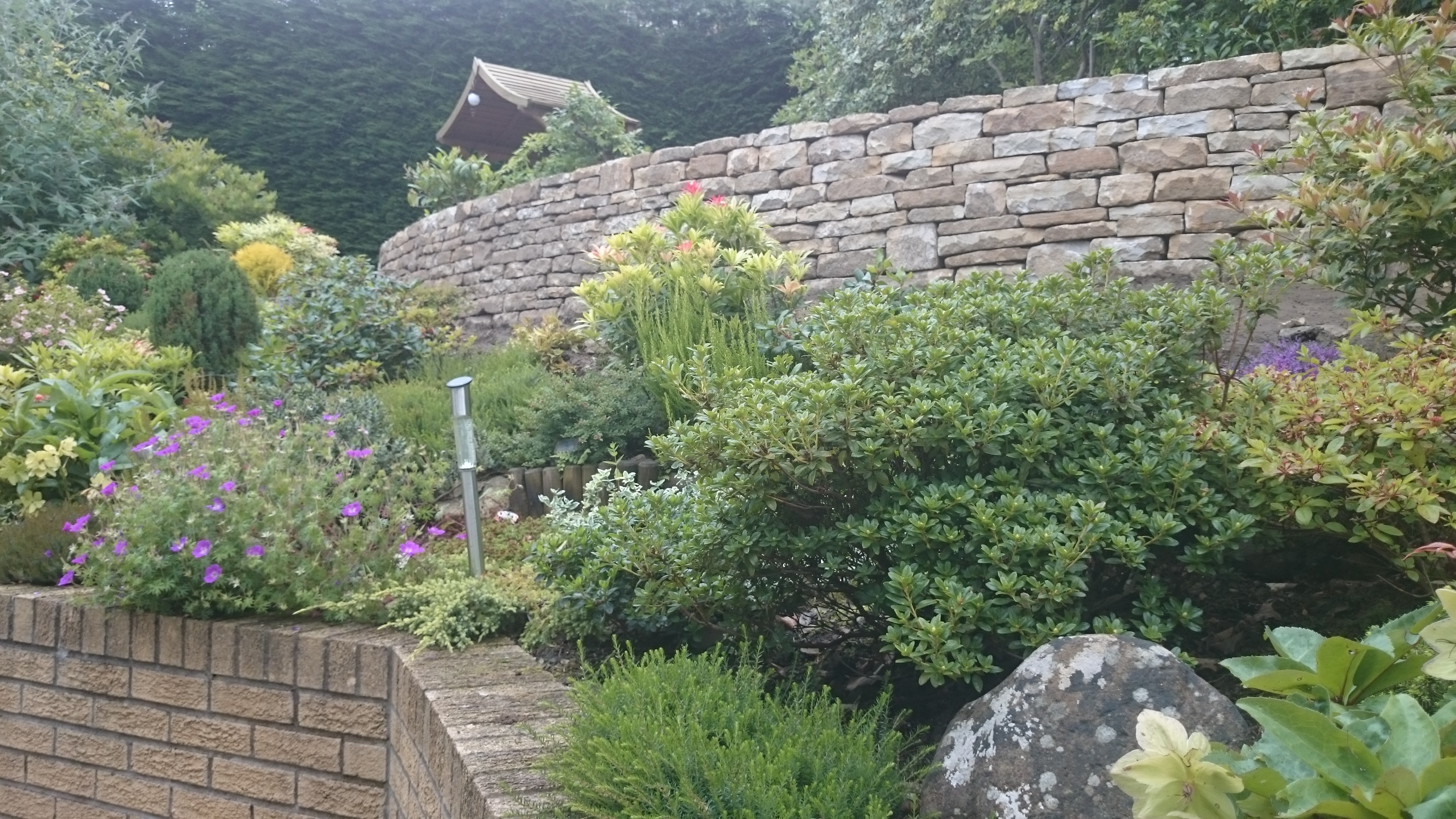Glasgow dry stone retaining wall