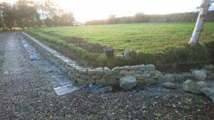 Low dry stone walls