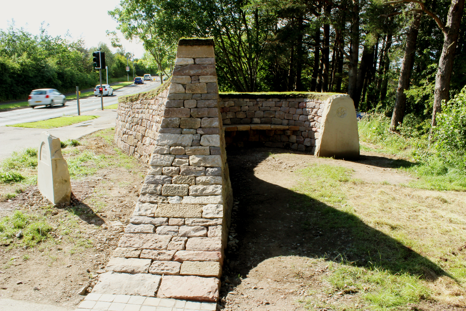Dry stone entrance way