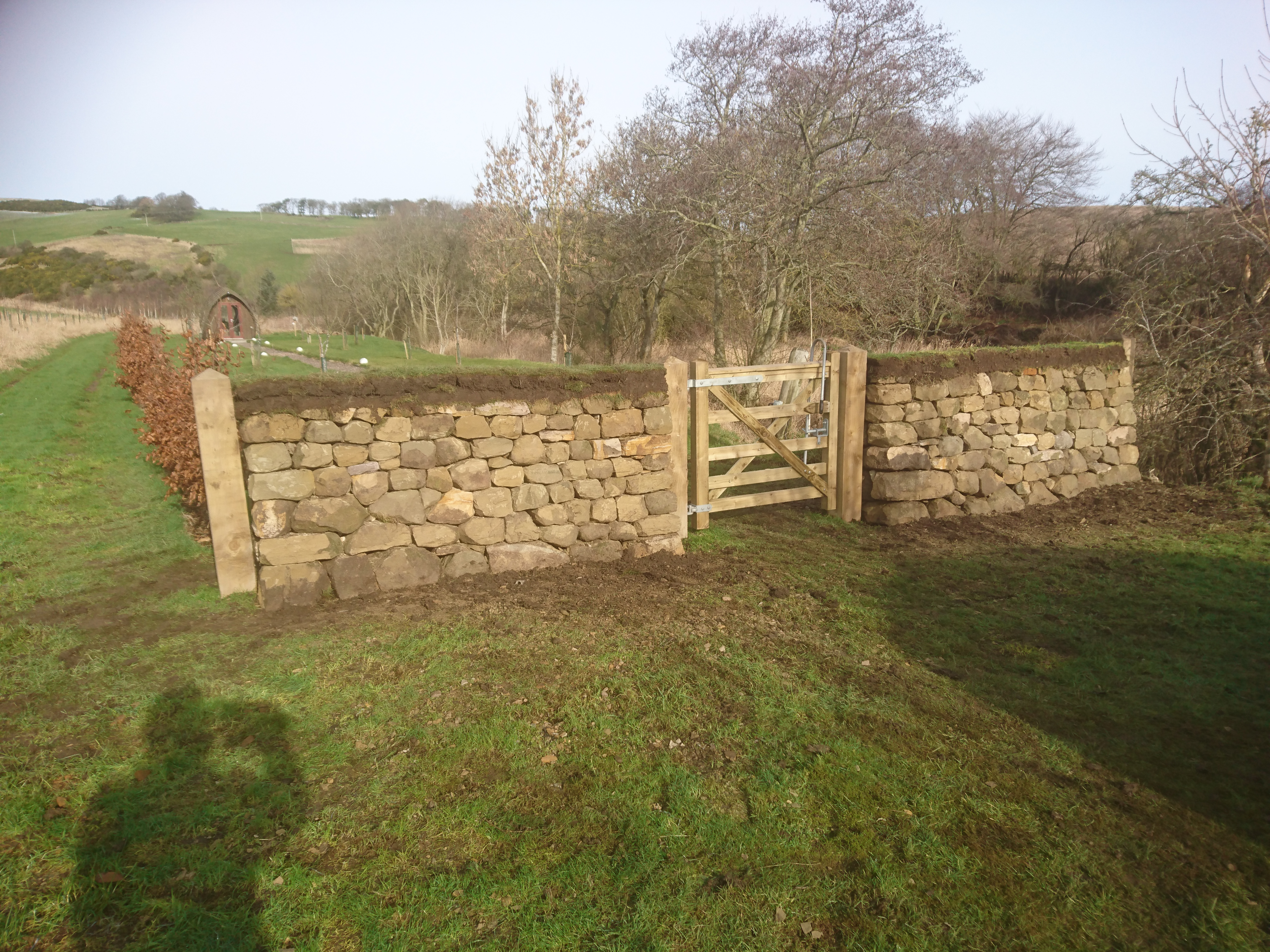 Free-standing dry stone walls