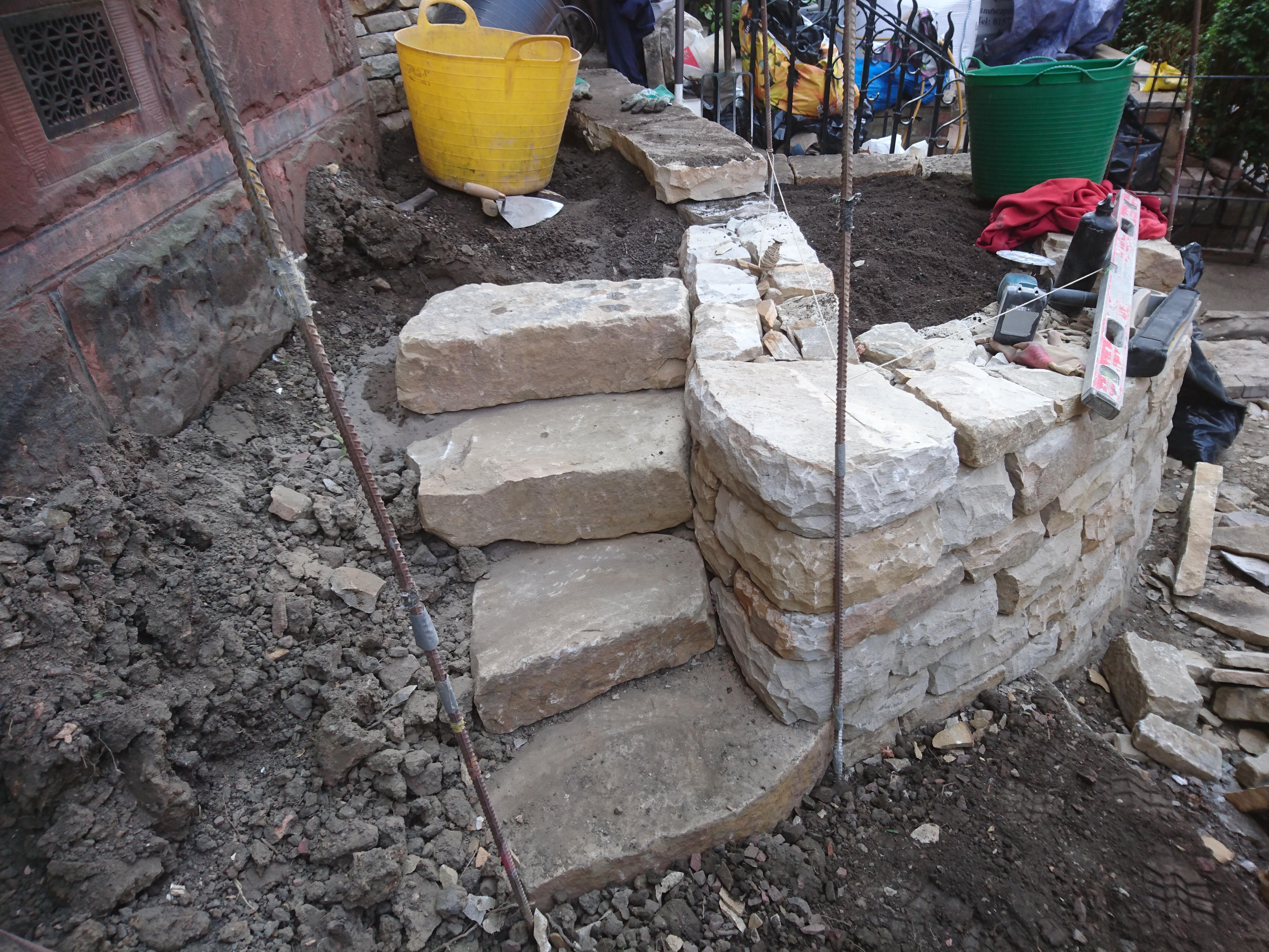 Dry stone steps