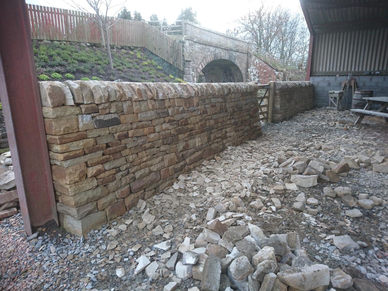 Free standing dry stone wall, Fife, Scotland
