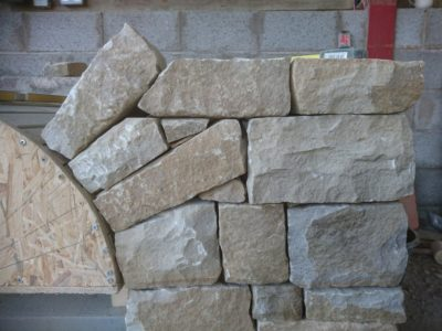 Dry stone feature work