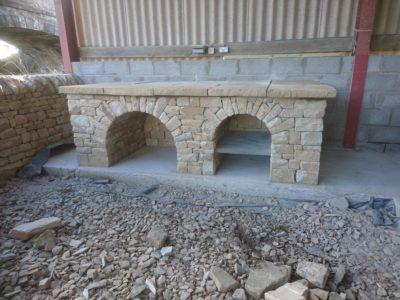 Dry stone pizza oven base Fife, Scotland
