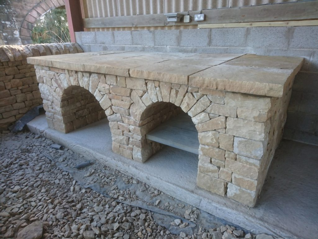 Dry stone pizza oven base, Fife, Scotland