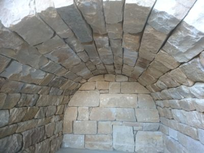 Inside view of a dry stone arch in Fife, Scotland
