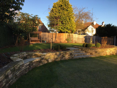 Ravelston steps and raised beds after