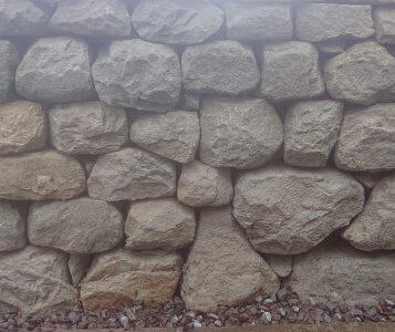 Random coursed dry stone wall