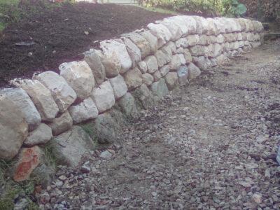 Edinburgh low retaining wall