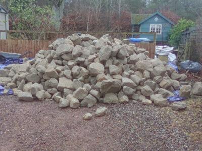 Stone rubble pile