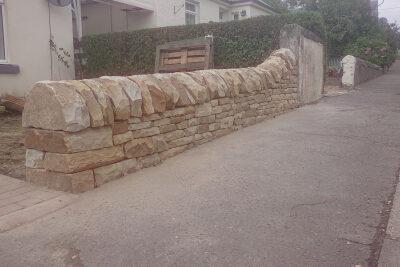Milnathort dry stone wall