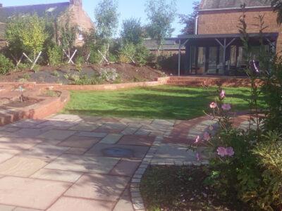 Dumfries back garden walls